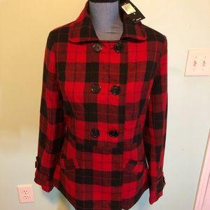 NWT Robert Louis plaid jacket